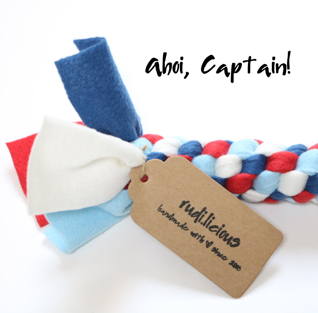 rudi.licious Öko-Tex Tauspielzeug Mini - Ahoi, Captain!