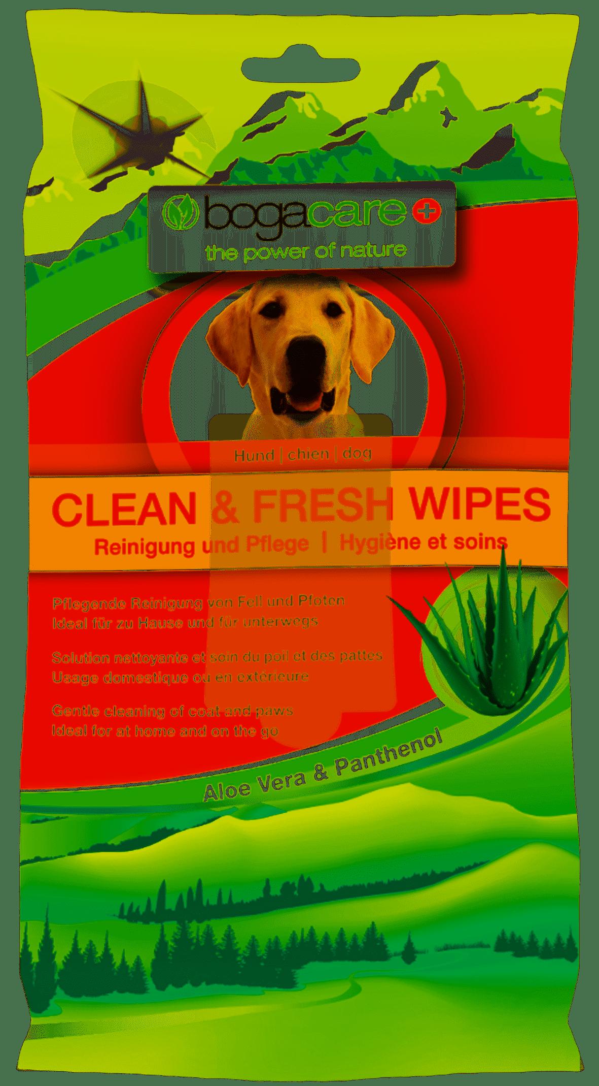 Bogacare Clean & Fresh Wipes Hund 15Stk
