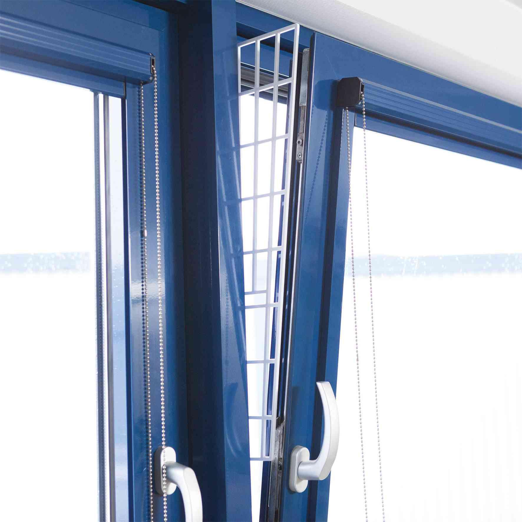 Trixie Schutzgitter für Fenster, Seitenteil 62 × 16/7cm, weiß