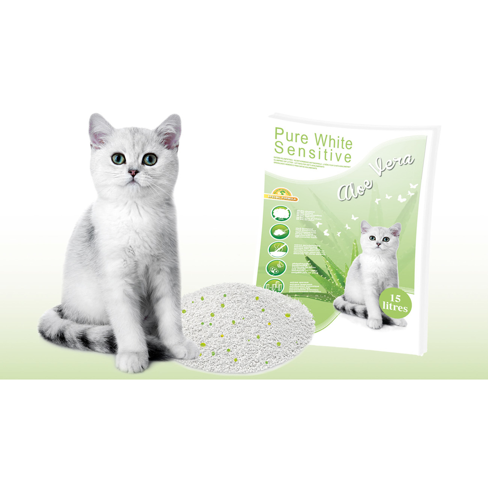 Europet Katzenstreu Pure White Sensitive 15 Liter
