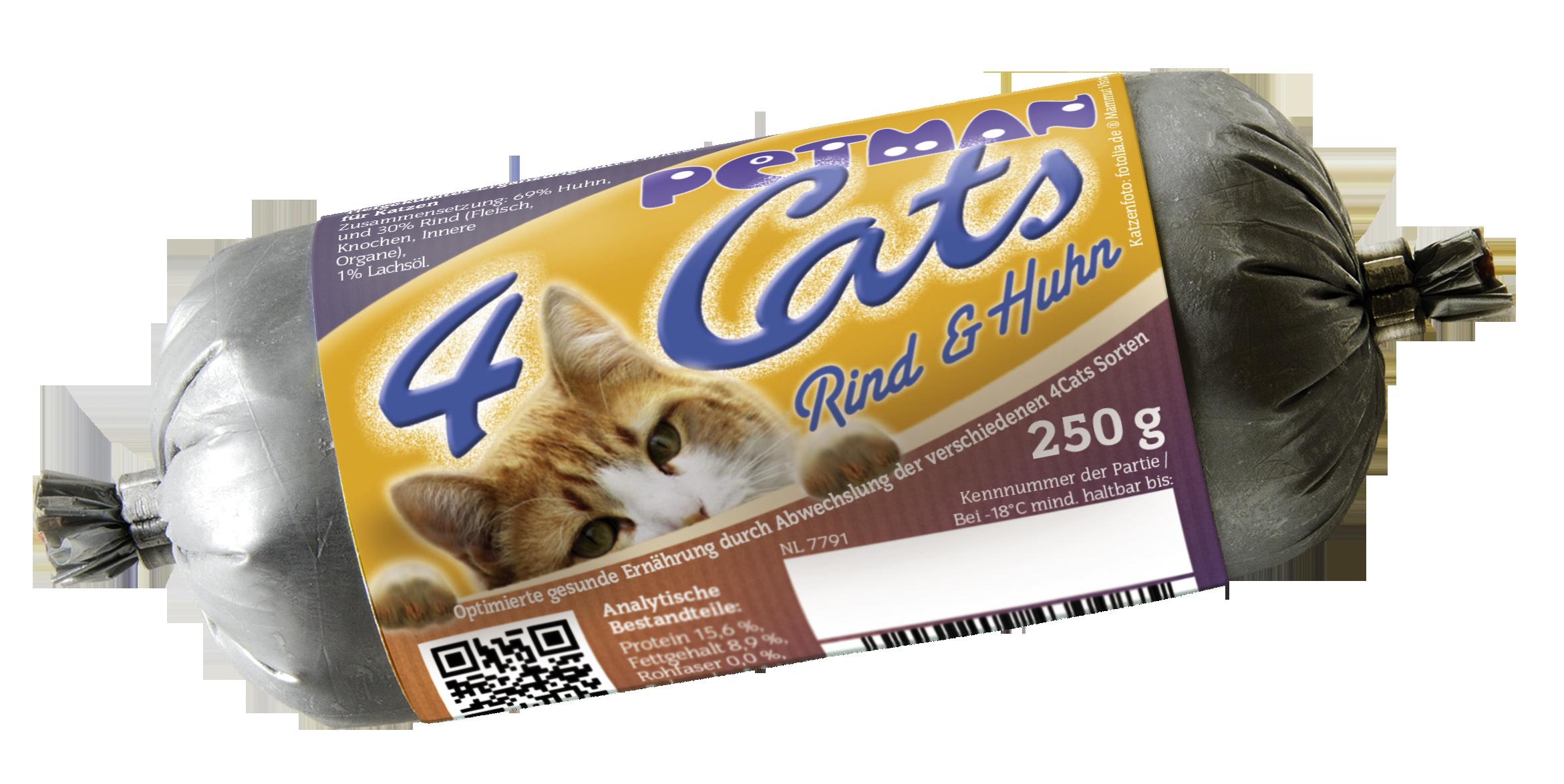 Petman 4Cats Rind + Huhn Wurst 250g