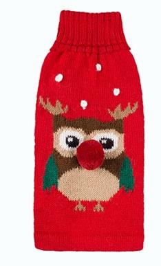 Alqo Wasi Hunde-Pullover Christmas Owl XS