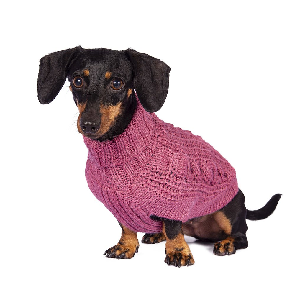 Alqo Wasi Hunde-Pullover Chunky Cable