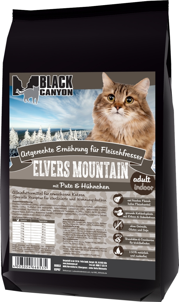 Black Canyon Cat Indoor Elvers Mountain mit Pute & Hühnchen