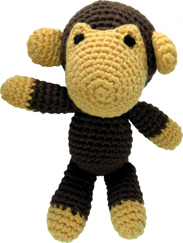 Pepper's Choice Häkel-Spielzeug mit Quietscher Affe