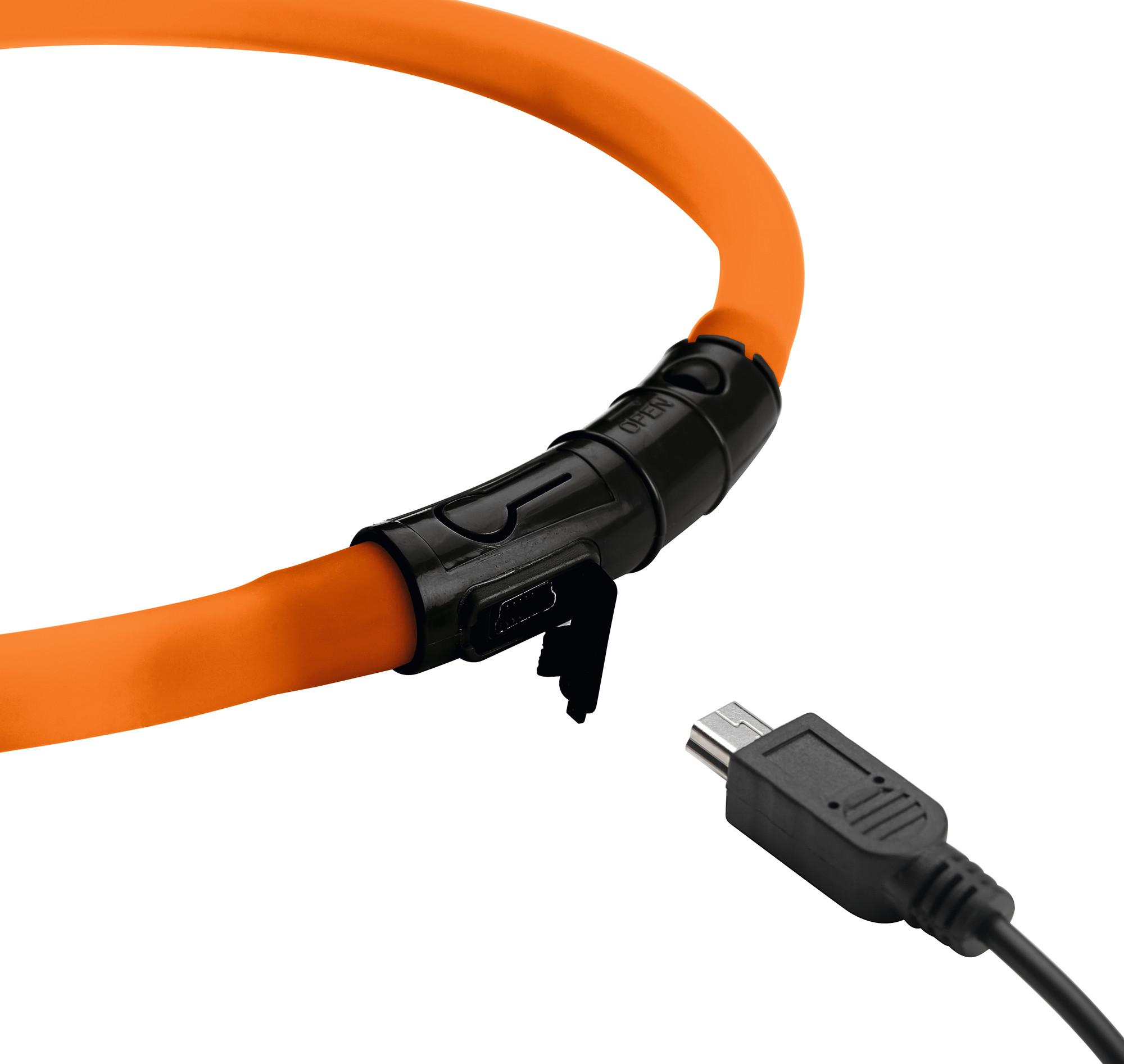 Hunter LED Silikon Leuchtschlauch, Yukon, Hund, kürzbar, mit USB Kabel