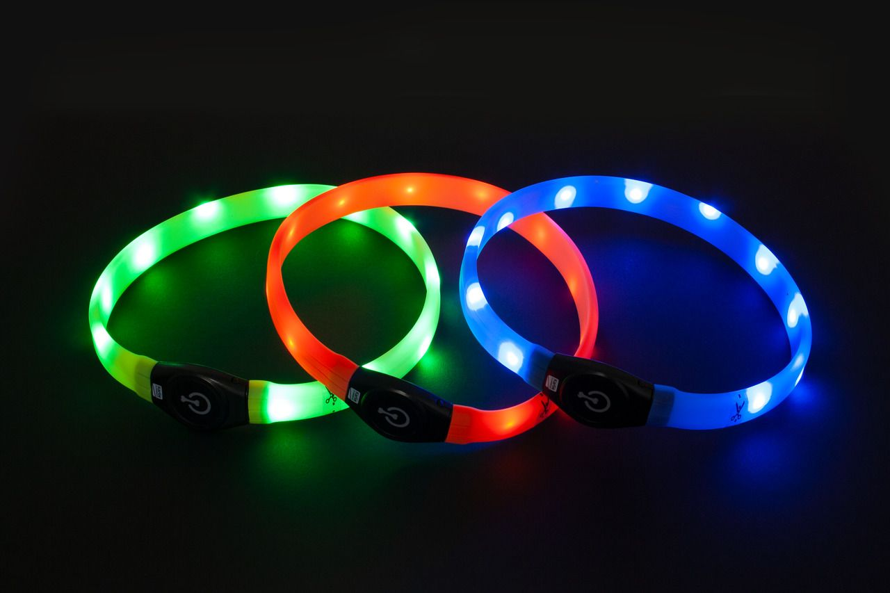 Karlie Visio Light LED-Halsband Langhaar 65cm x 2,5cm