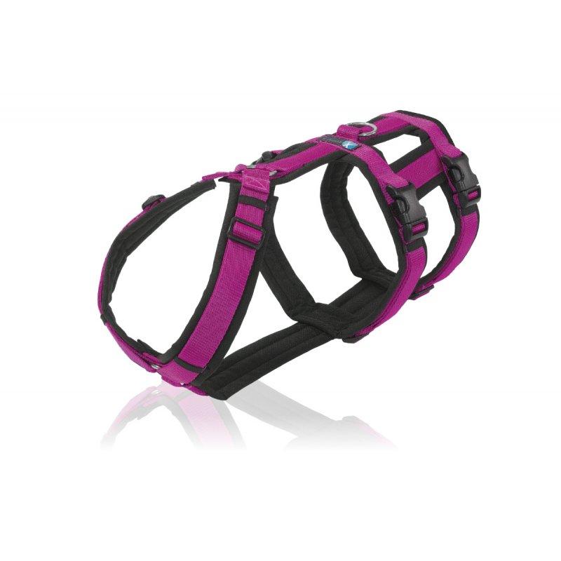 annyx Geschirr Safety schwarz / pink
