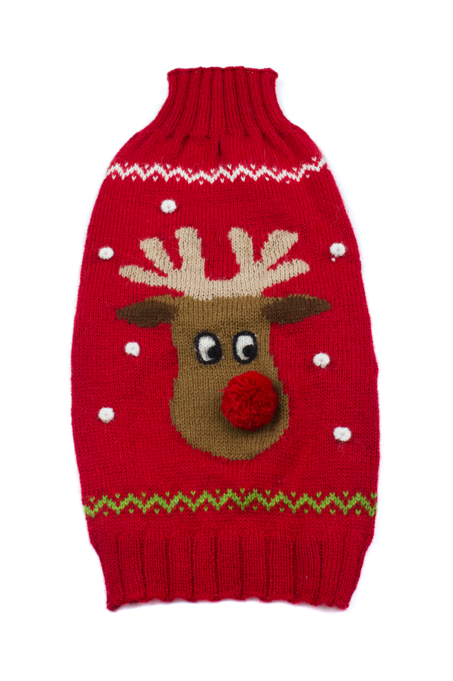 Alqo Wasi Hunde-Pullover Red Rudolph