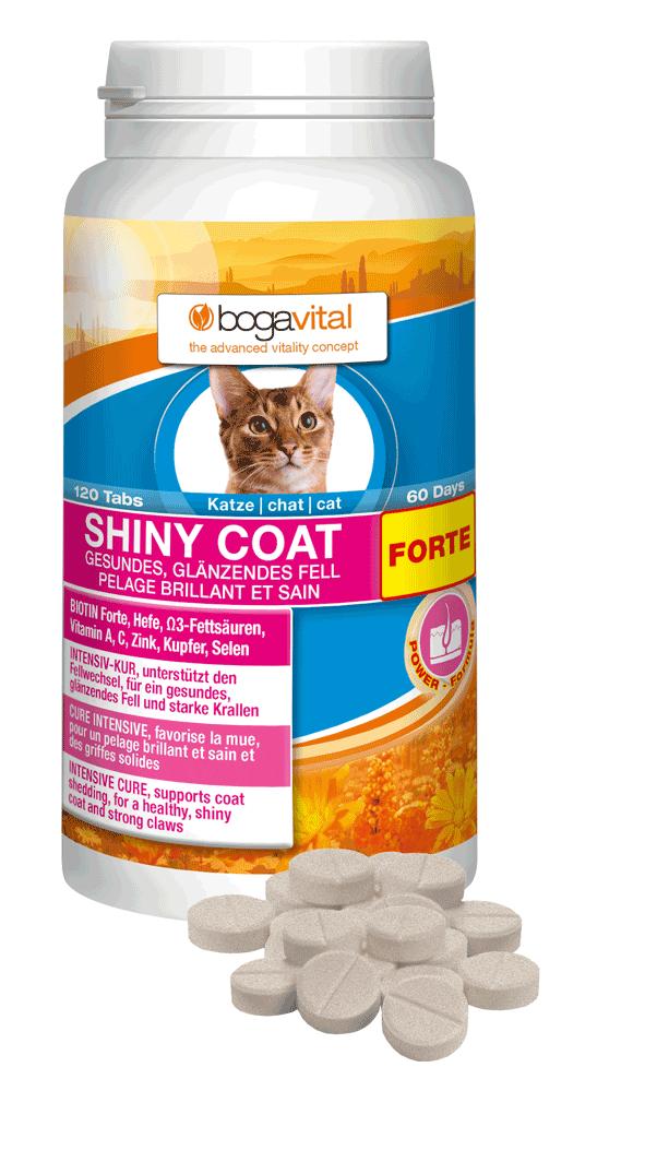 Bogavital Shiny Coat Forte Katze 84g / 120 Tabs