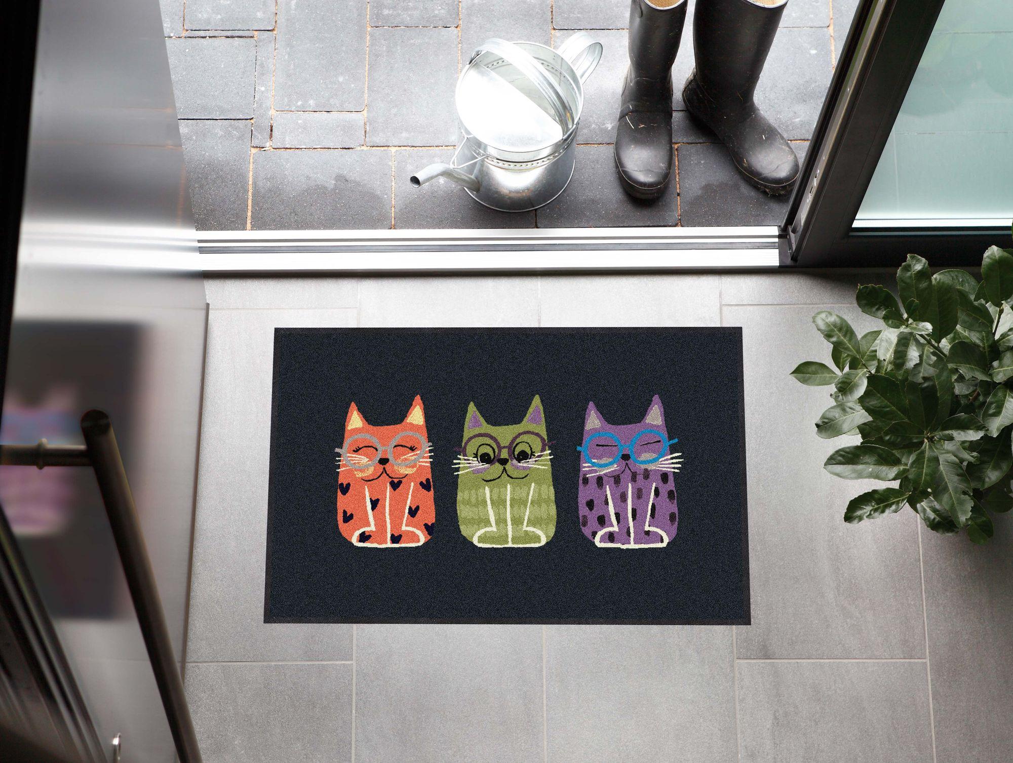 Salonlöwe Fußmatte Buddy Cats pastel 50x75cm