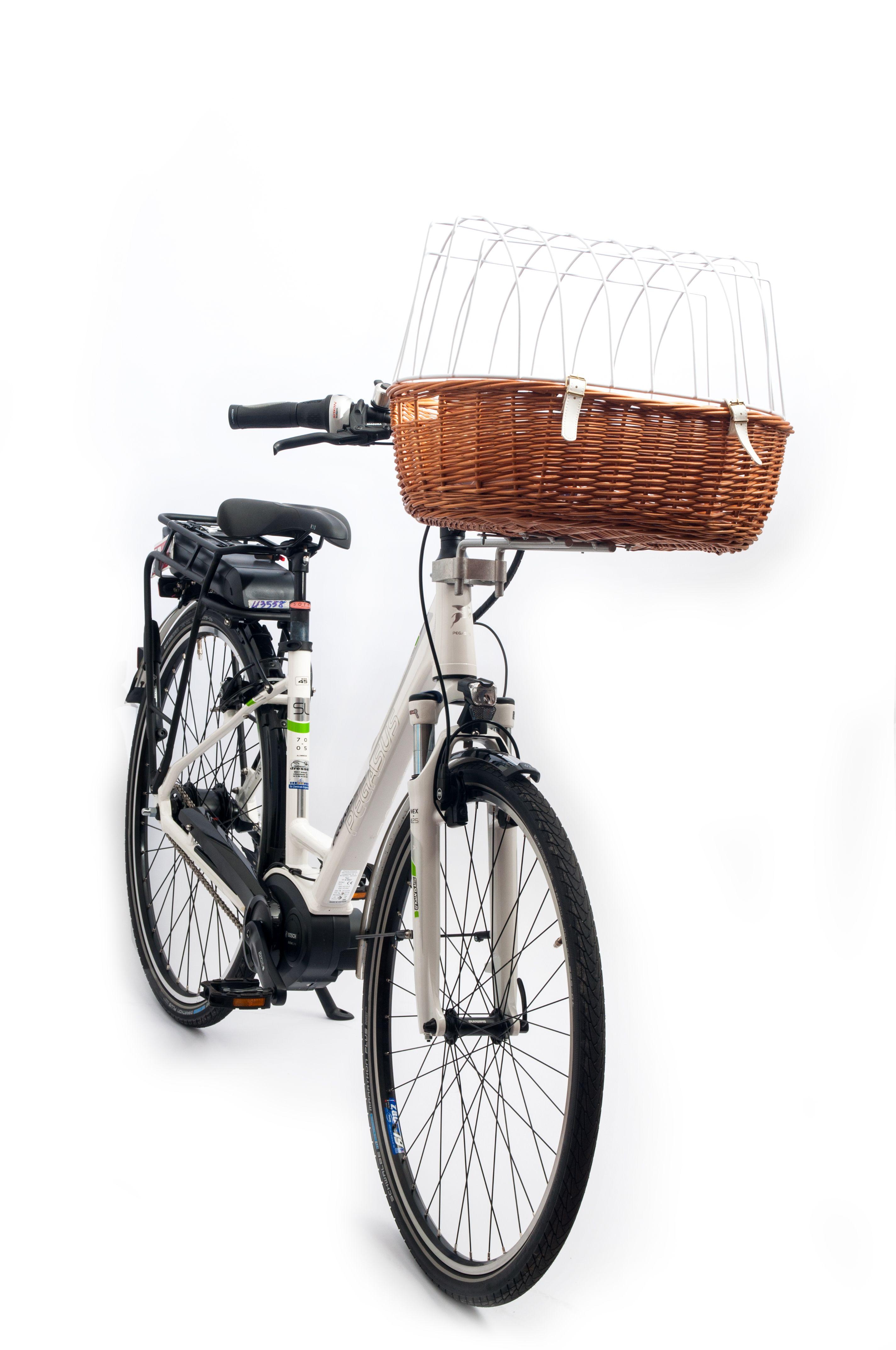 Aumüller E-Bike fähiger Fahrradkorb komplett mit Steuerkopfmontagesystem 167 53x40x25/46cm