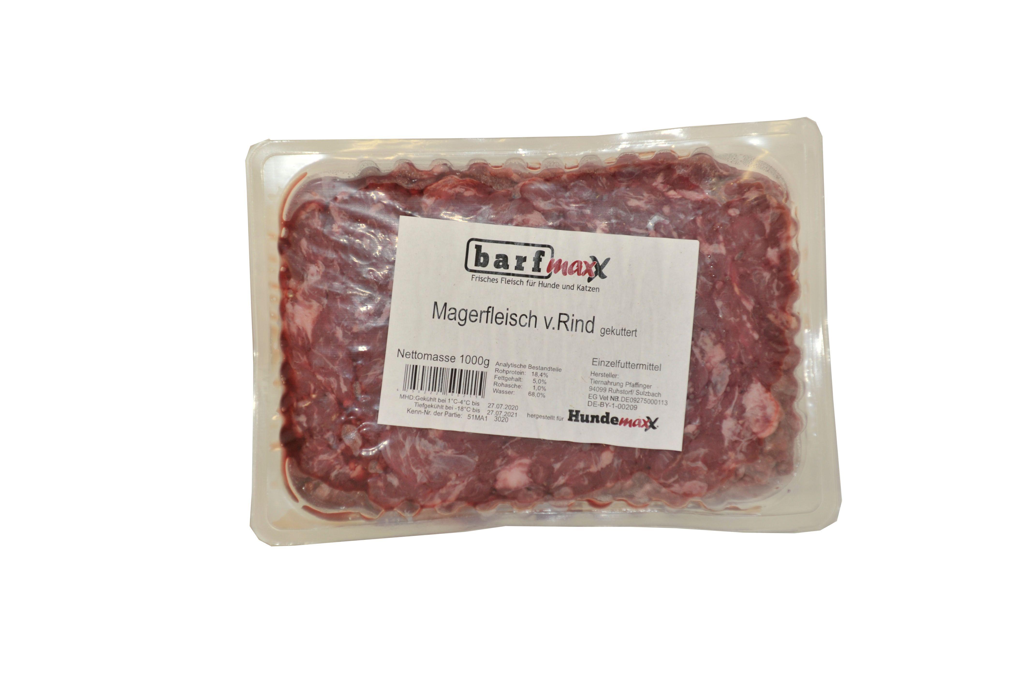 barfmaxx Magerfleisch gekuttert