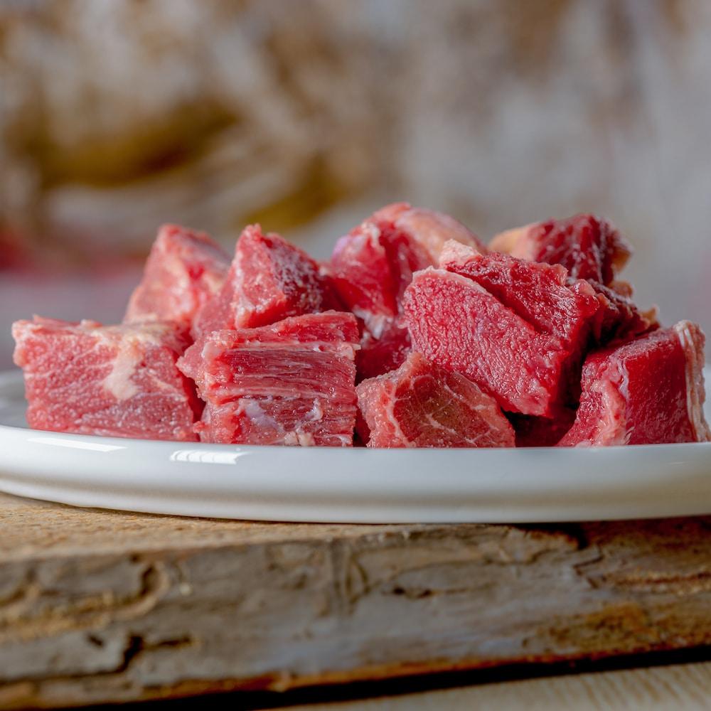 Barfgold Rindermuskelfleisch, durchwachsen gefroren, gewürfelt 1000g