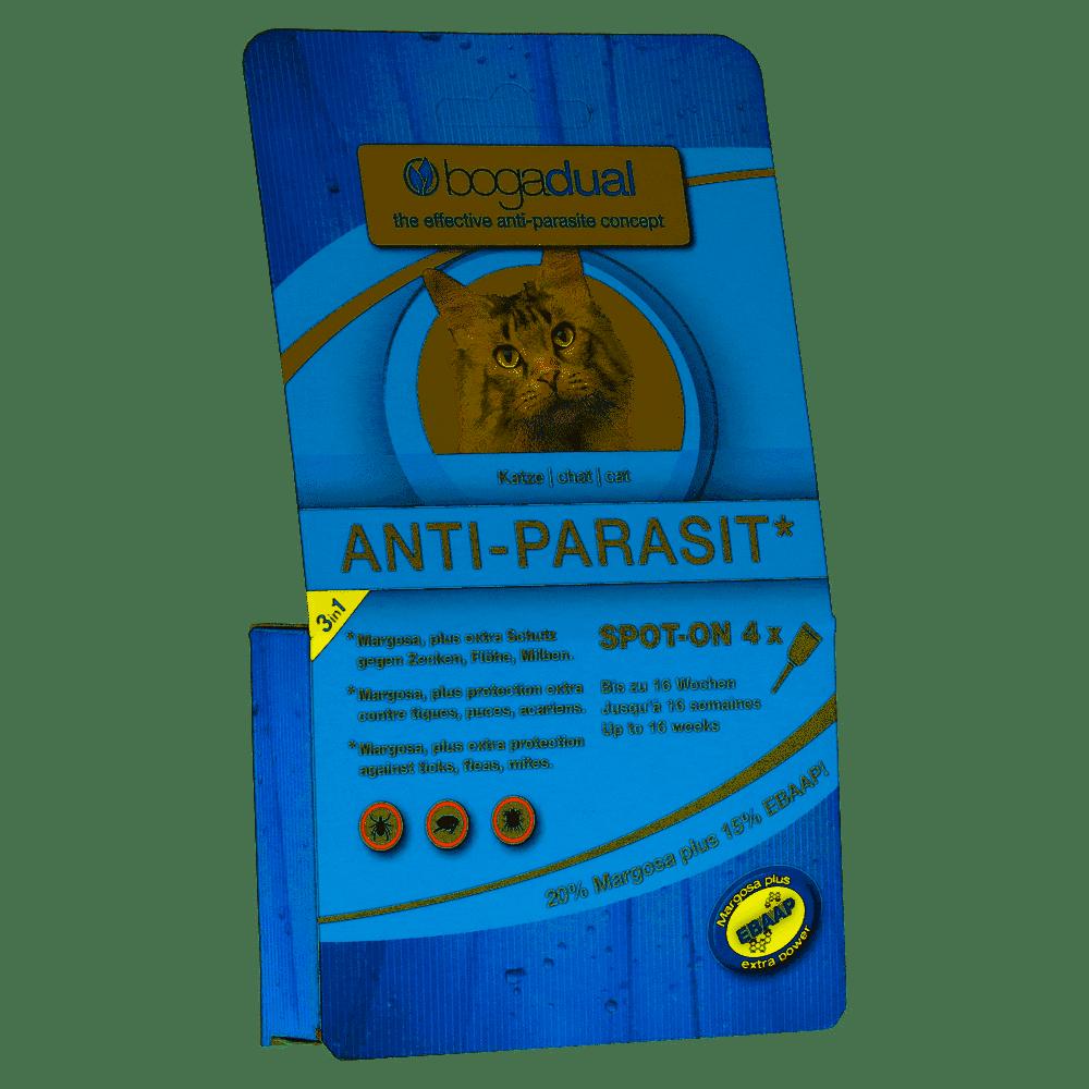 Bogadual Anti-Parasit Spot-On Katze 4x0.75ml