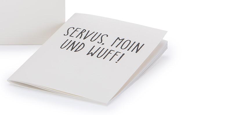 Treusinn Notizheft NOTE - Wuff DIN A5 naturweiß