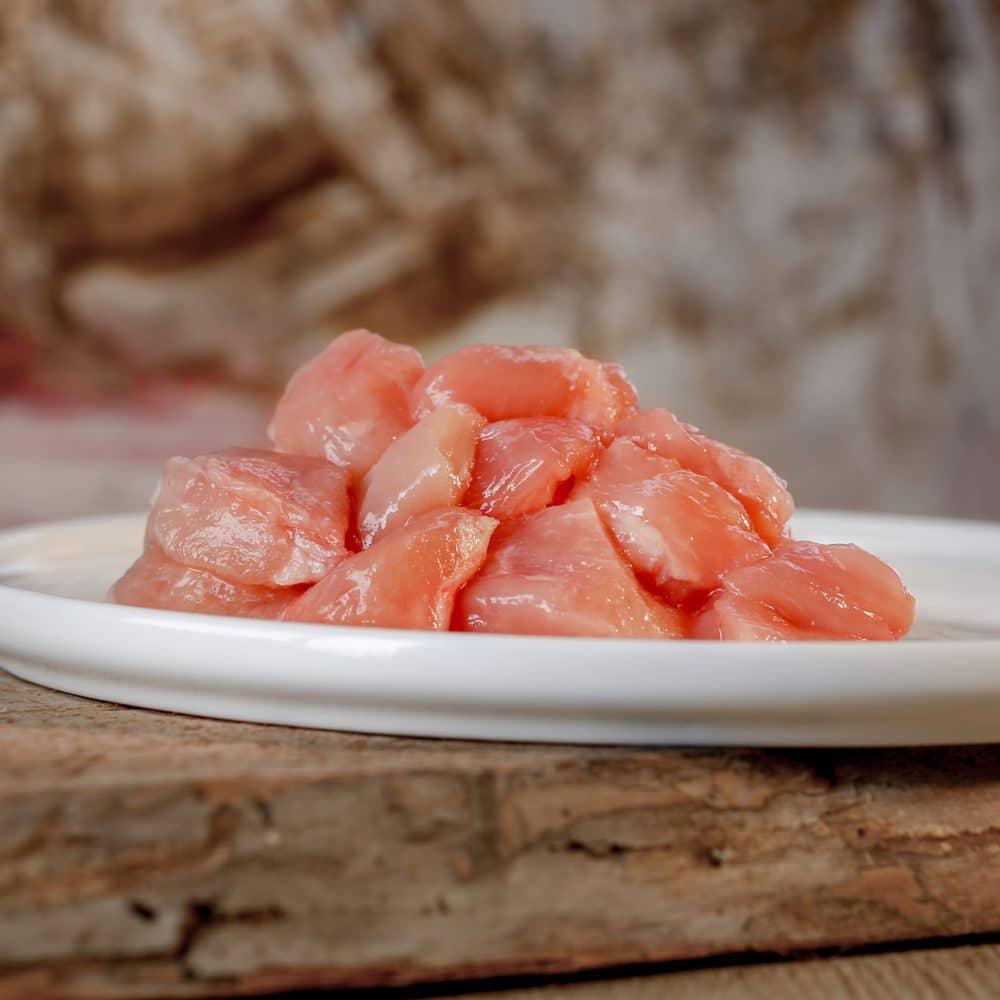 Barfgold Hühnermuskelfleisch, mager gefroren, gewürfelt 1000g