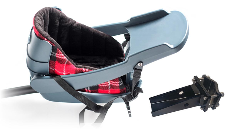 Buddyrider Fahrrad-Hundesitz mit Einlage inkl. Sicherheitsgeschirr und Halter für Sattelstütze
