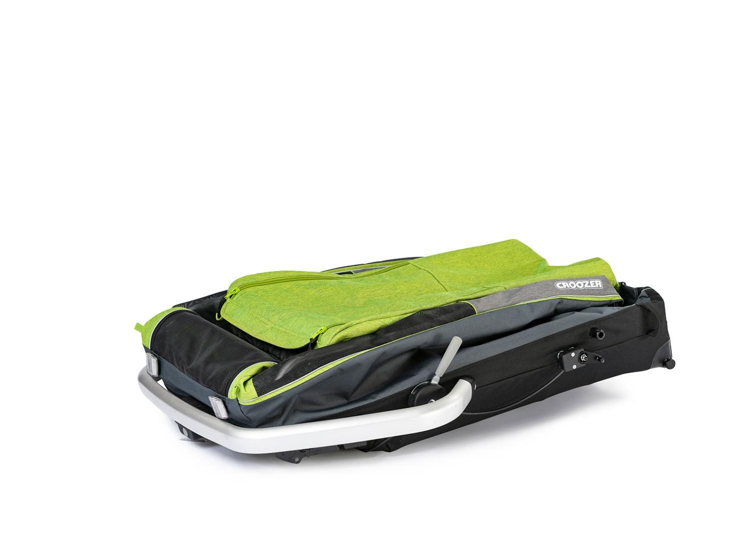 Croozer Dog XL Hundeanhänger Grasshopper-green mit Achskupplung Click & Crooz®