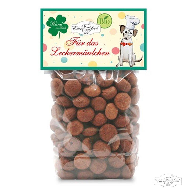 Edenfood Leckerli Mini-Makronen Hund im Glück, 100g