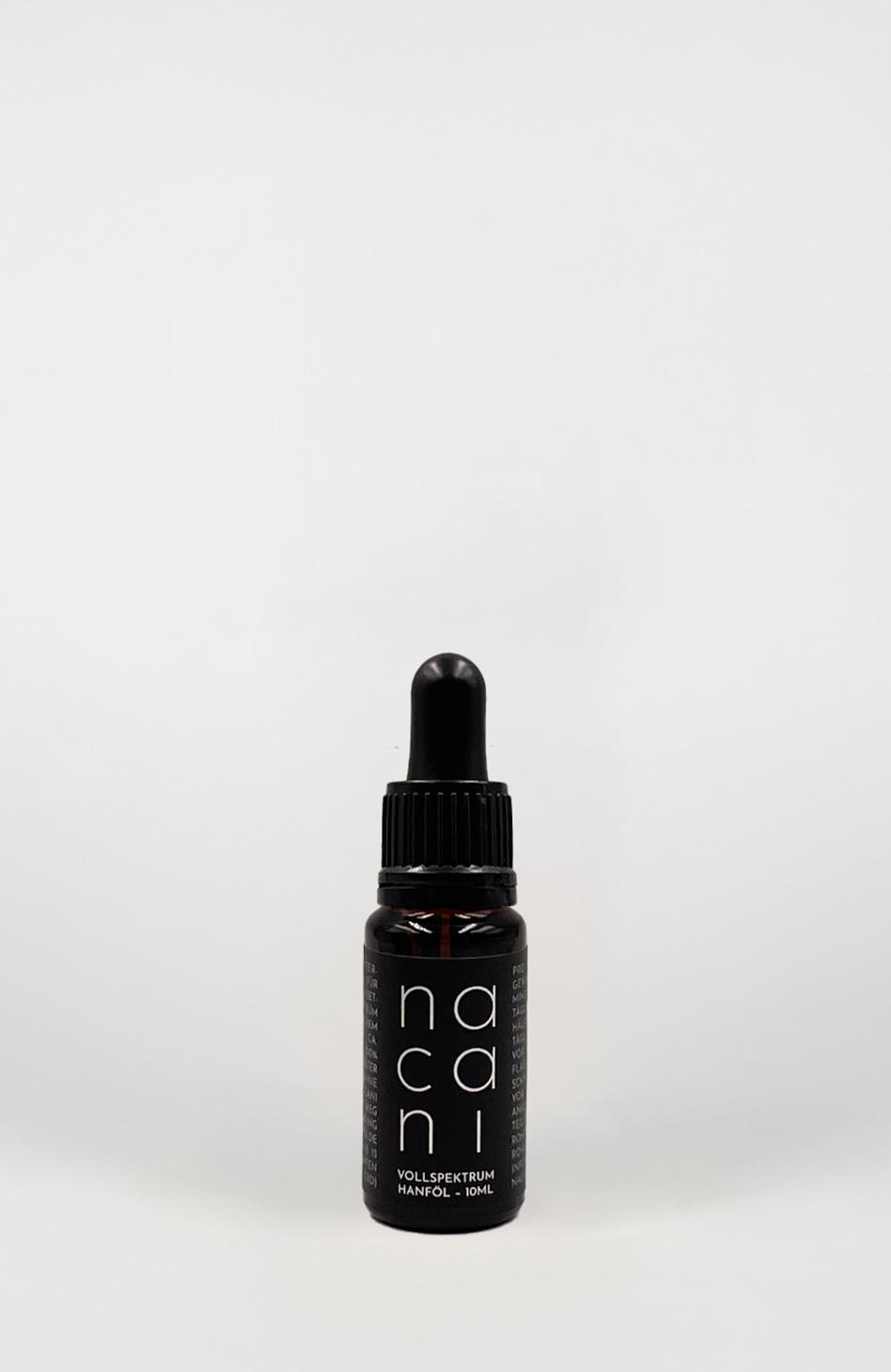 nacani Reines Hanf-Öl mit natürlichem CBD-Anteil, 2,8% Pipetten-Fläschchen