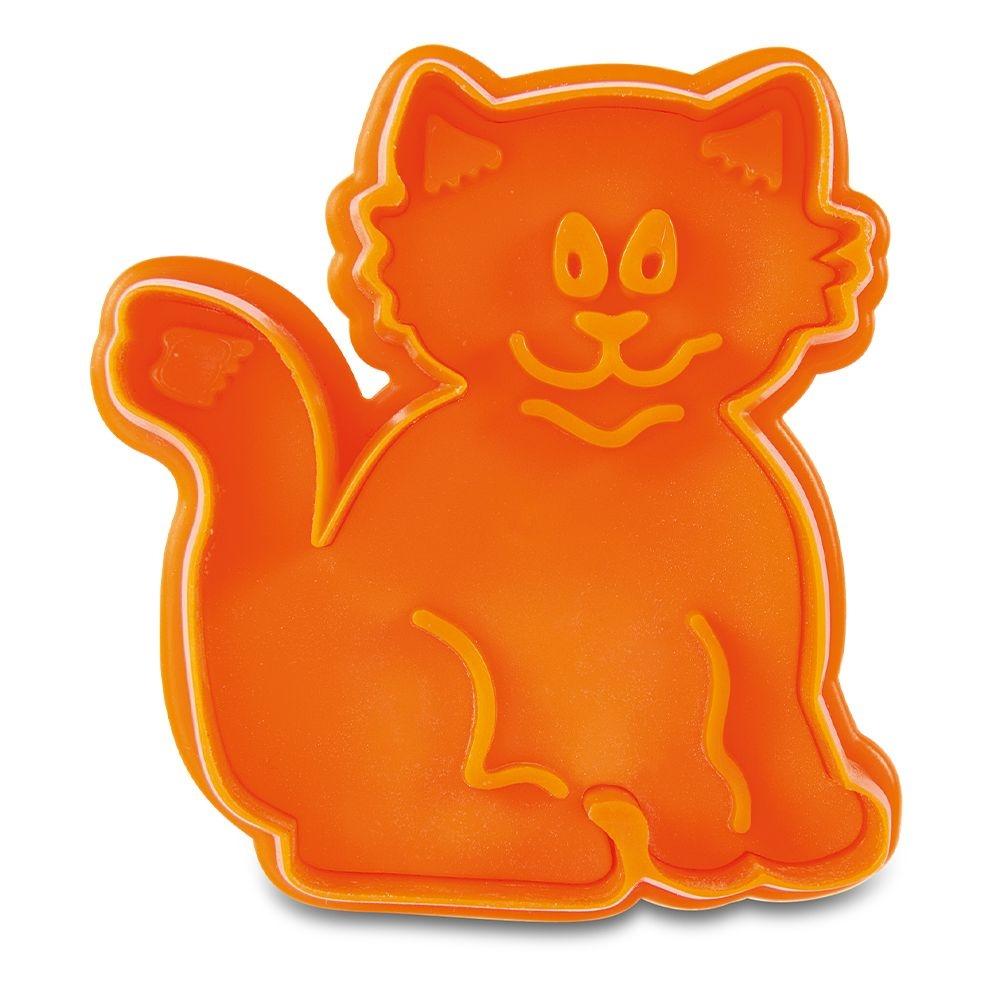Städter Ausstechform Katze ca. 6,5cm Orange