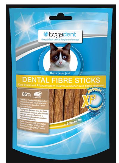 Bogadent Dental Fibre Sticks Katze 50g
