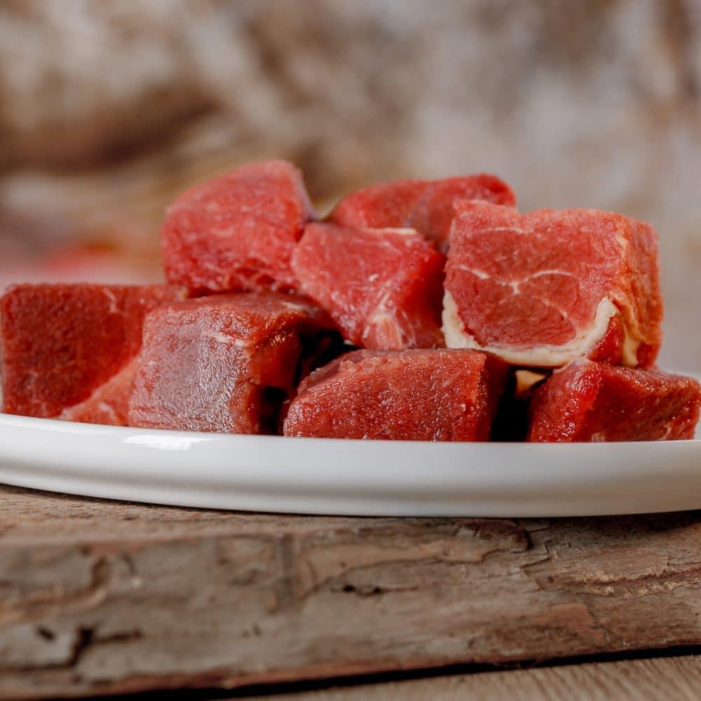 Barfgold Pferdemuskelfleisch gefroren, gewürfelt 1000g