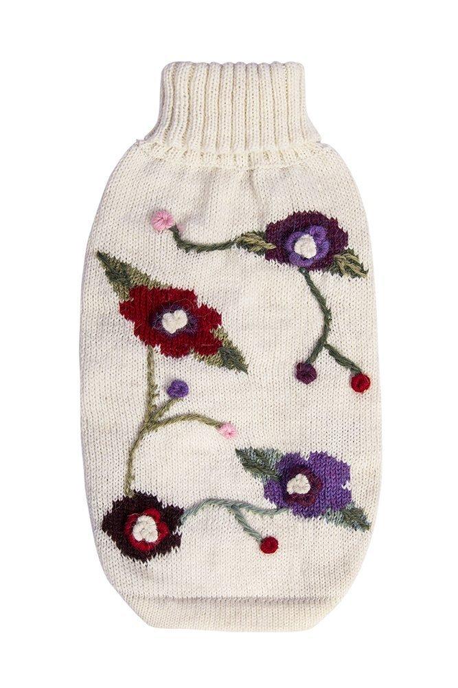 Alqo Wasi Hunde-Pullover Flower - XS