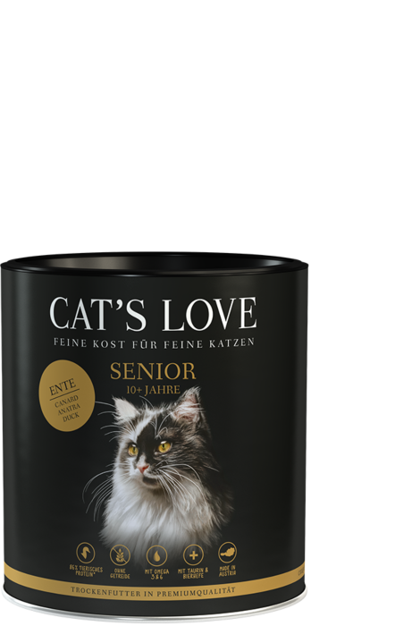 Cat's Love Trockenfutter Senior Ente