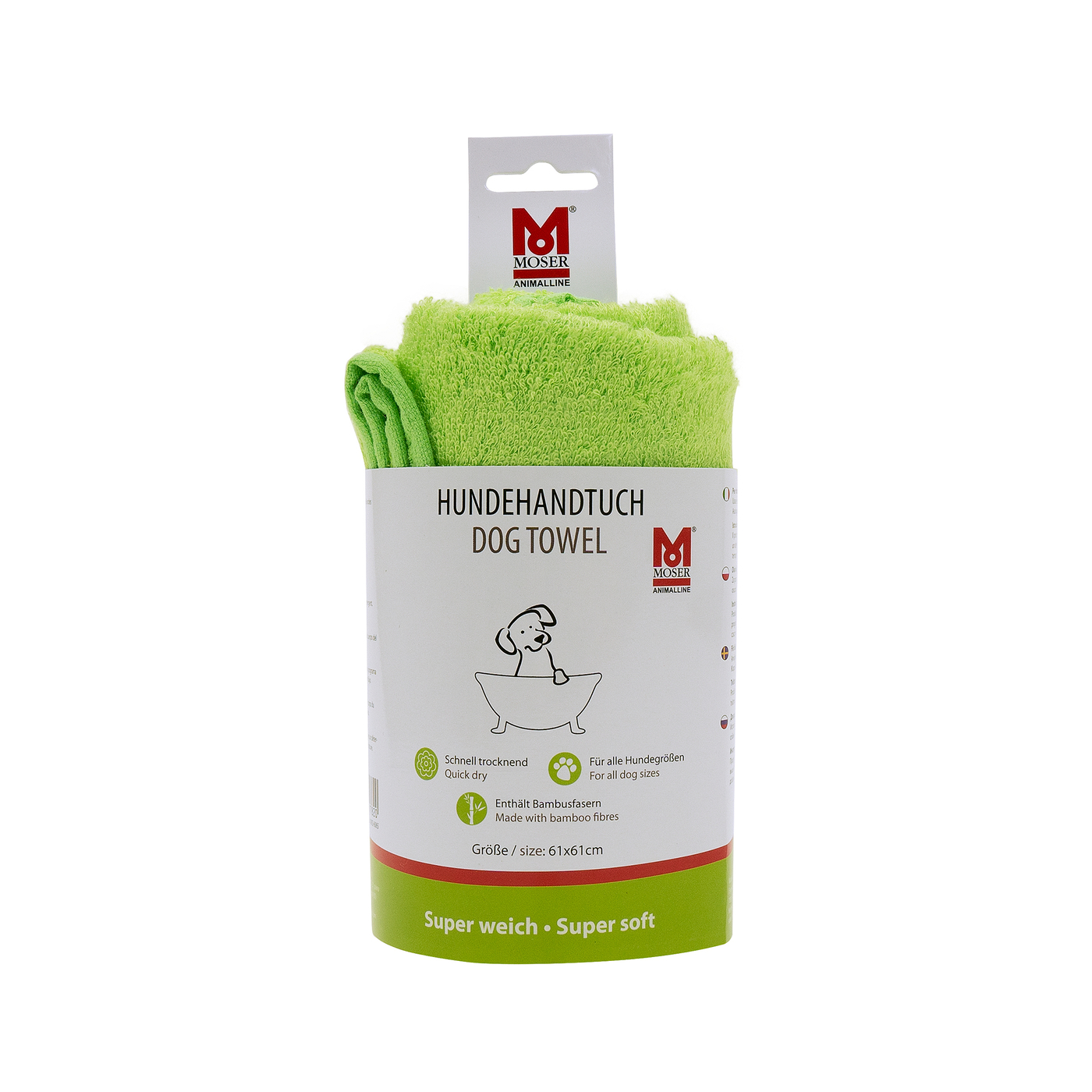 Moser Moser Handtuch Bambus, grün