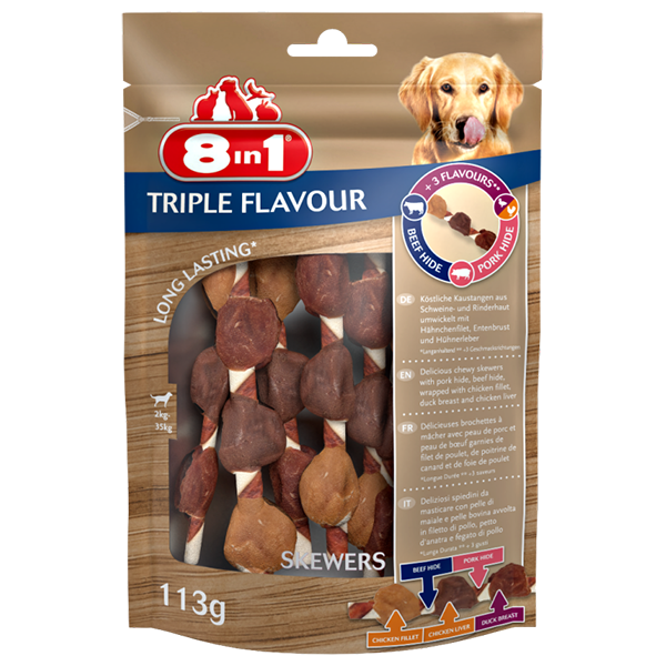 8in1 Triple Flavour skewers 113g