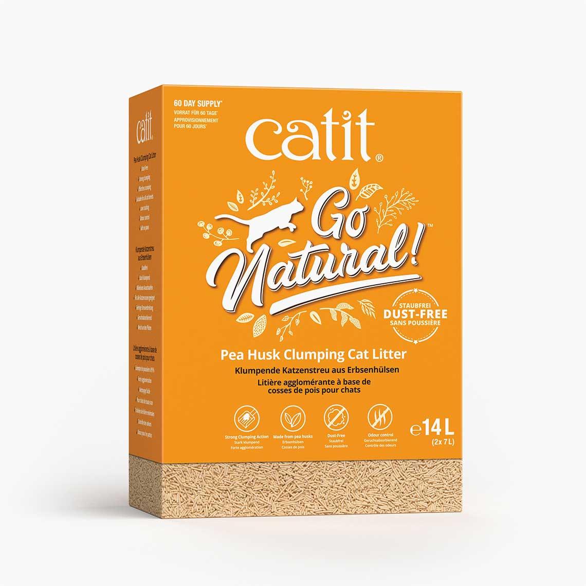 Hagen Catit Go Natural! Katzenstreu aus Erbsenhülsen 14L