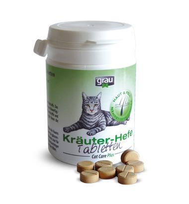 Grau Cat Care Plus Kräuter-Hefe Tabletten (Vital Tabletten)