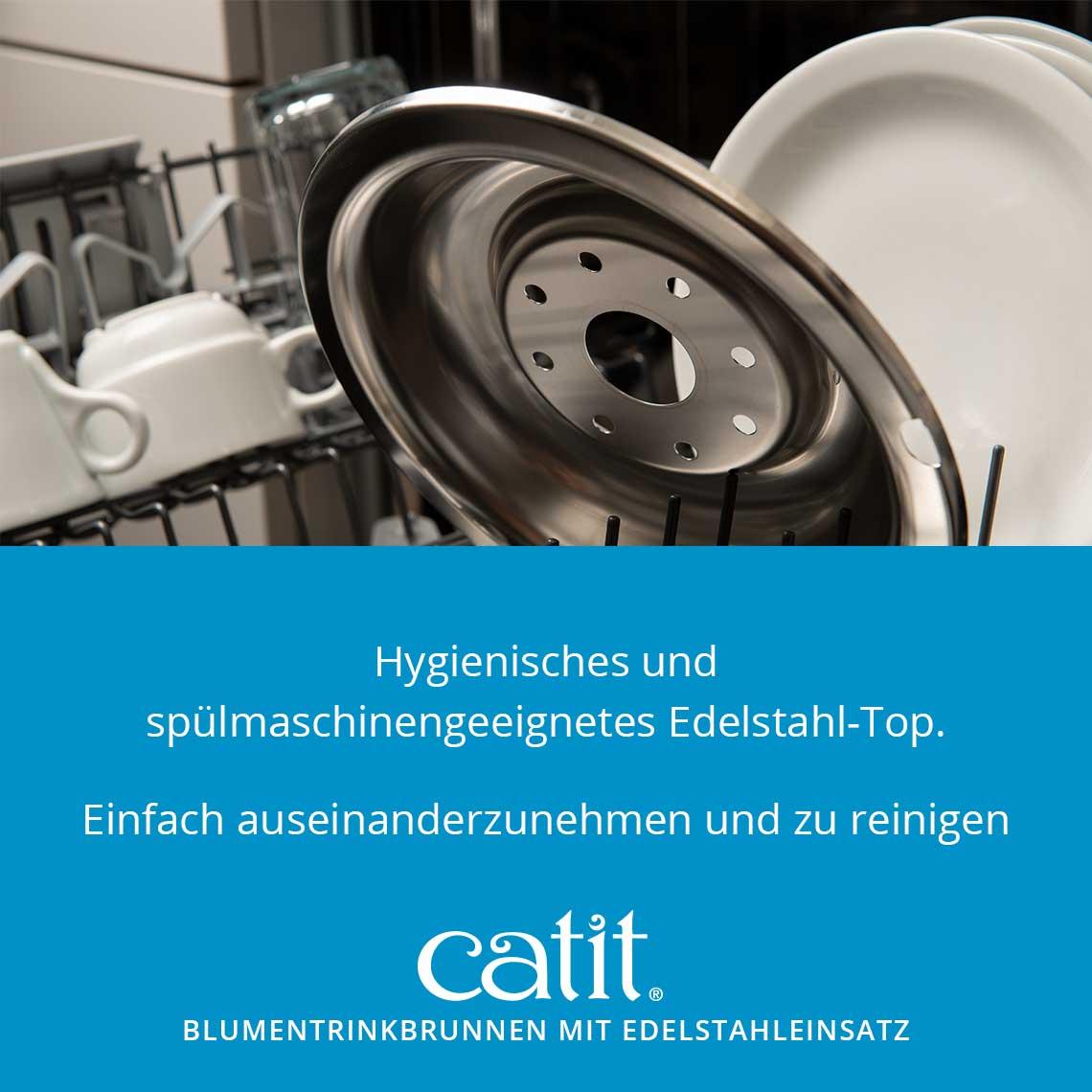 Hagen Catit Senses 2.0 Flower Fountain Edelstahl