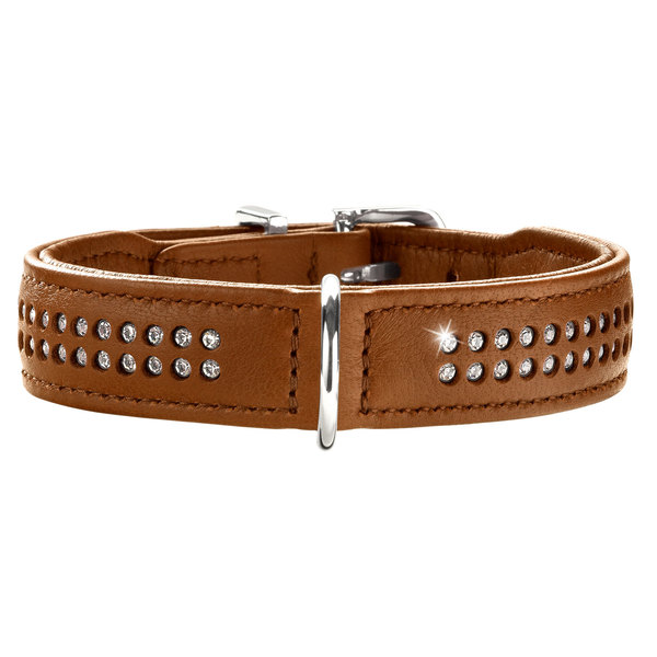 Hunter Halsband Diamond Elk Petit, Elchleder