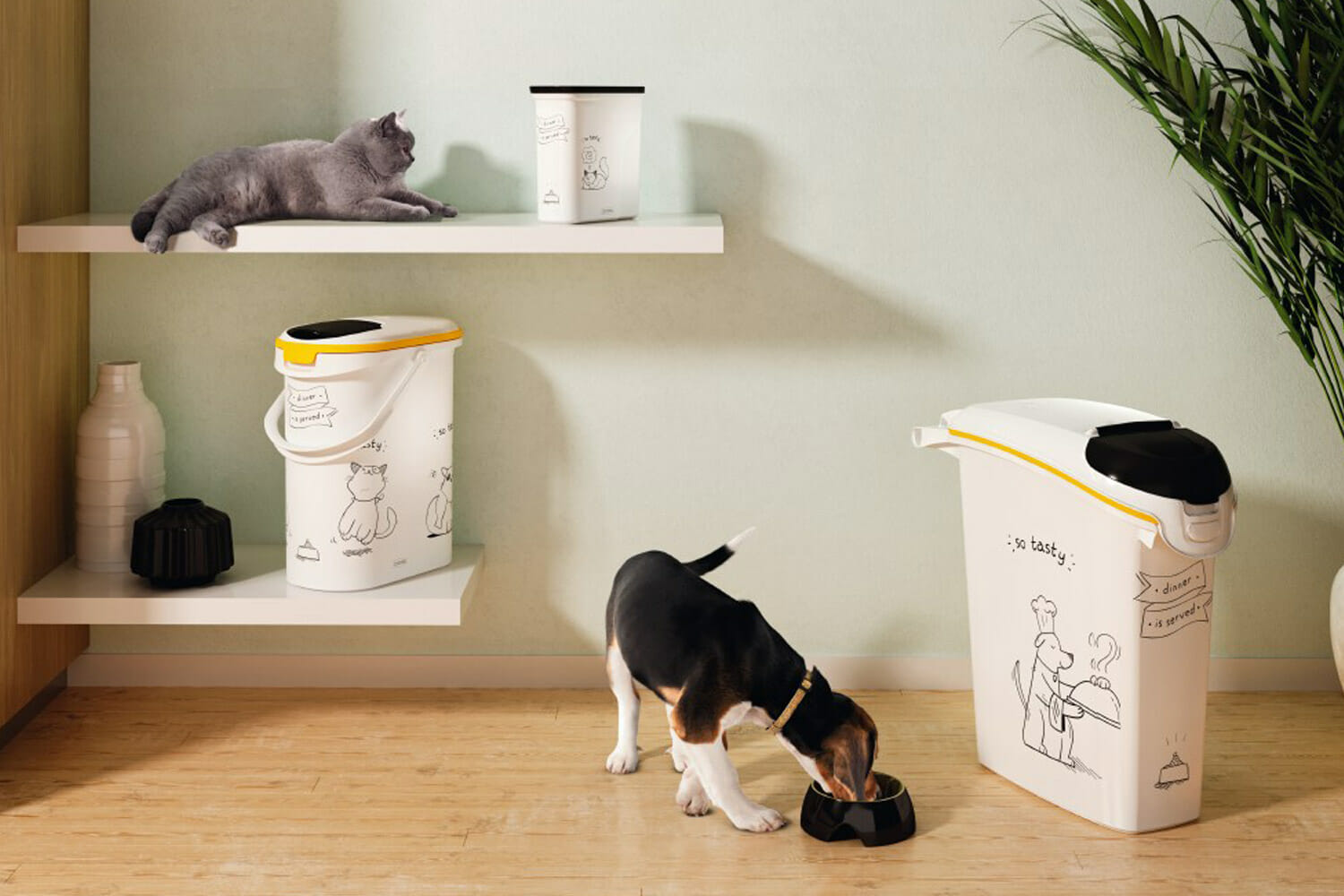 Curver Futtercontainer -Dinner is served- Katze