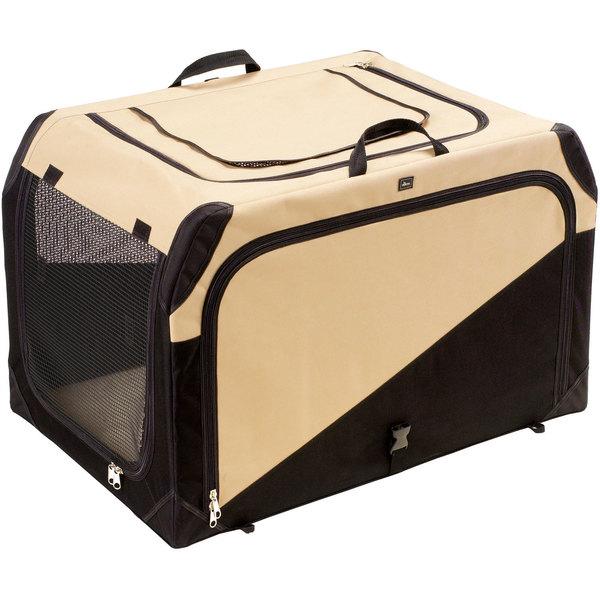 Hunter Hundetransportbox, beige/schwarz