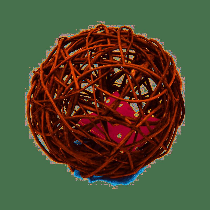 Aumüller Baldrian-Weiden-Katzenball inkl. 2 Baldrian Spielkissen 18x18x18cm