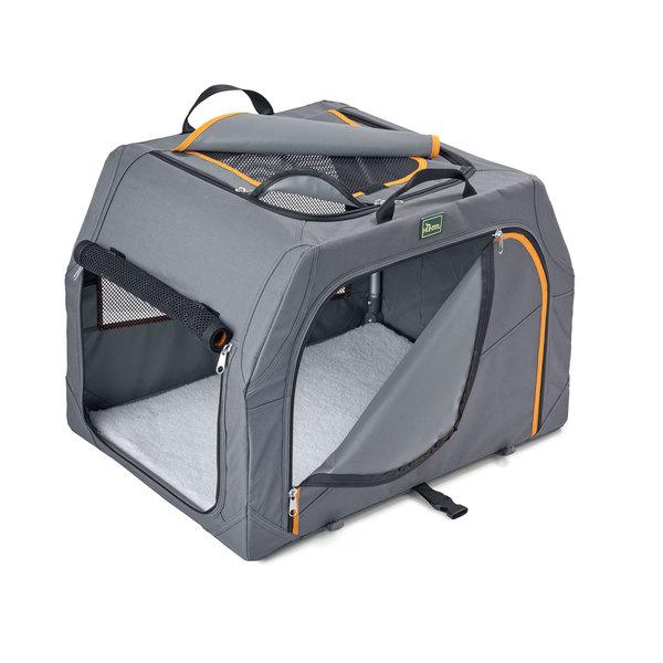 Hunter Hundetransportbox Alu-Gestell anthrazit/orange
