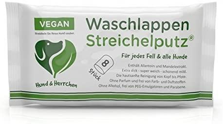 Hund & Herrchen Waschlappen Streichelputz 8 St.