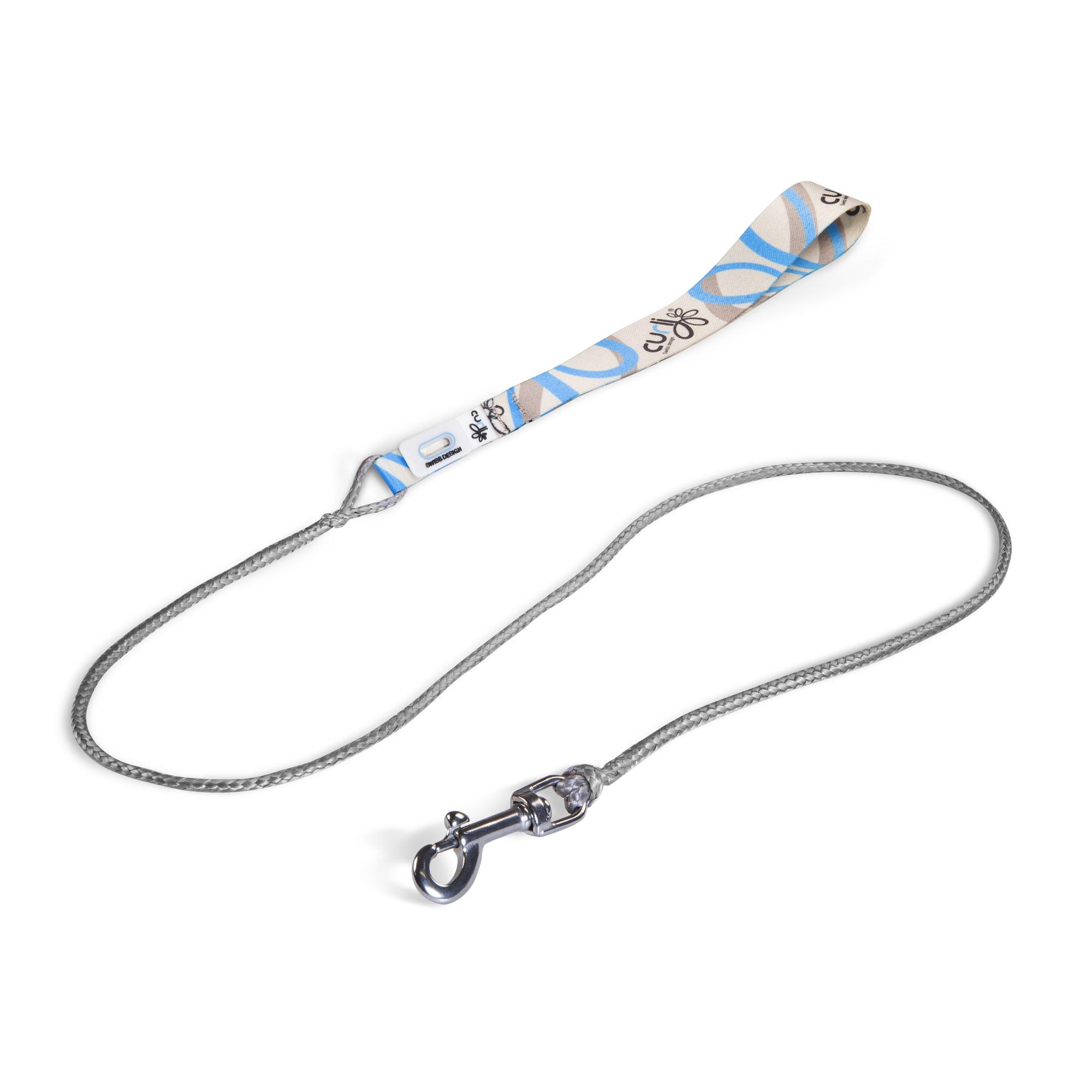 Curli Ultra Strong Pocket Leine weiß-blau 110cm