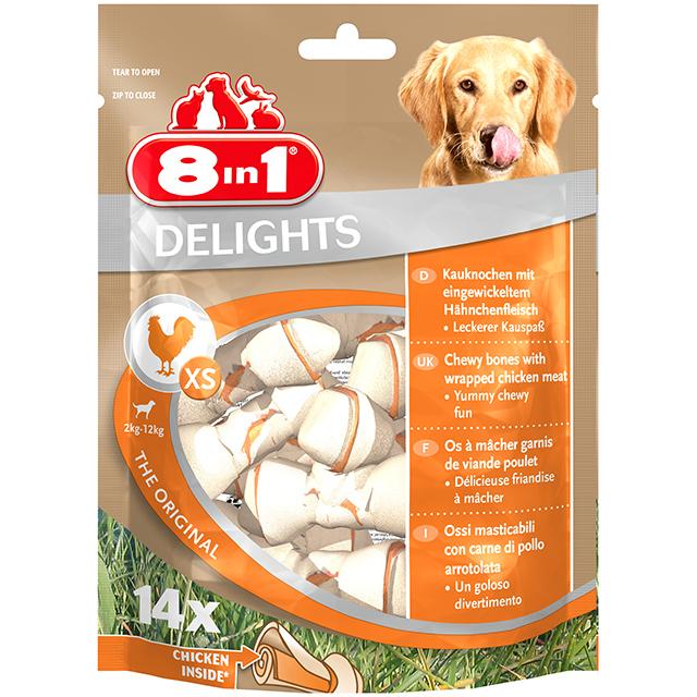 8in1 Delights Kauknochen XS 14 Stck. (im Beutel)