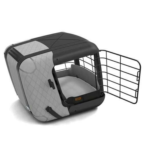 4Pets Dog Caree Transportbox Cool Grey